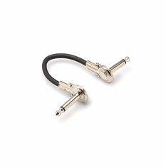 HOSA IRG-100.5 Guitar Patch Cable, Low-profile Right-angle to Same, 6 inch