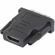 HDMI Female - DVI-D Male Adapter, Nickel Plated