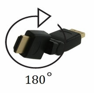 HDMI Male / Female Port Saver Swivel Plug with 180 degree rotation