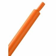 "HeatShrink Tube 1/4"" Orange 3:1 - 1 Foot Length"