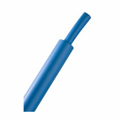 "HeatShrink Tube 3/16"" Blue 2:1 - 1 Foot Length"