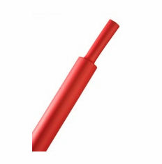 "HeatShrink Tube 3/16"" Red 2:1 - 1 Foot Length"