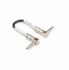 HOSA CPE-606 Guitar Patch Cable, Right-angle to Same, 6 inch (Pack of 6)