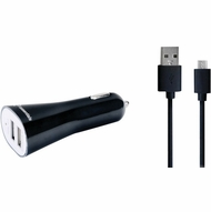 IESSENTIALS IE-PCM-2U 3.4-Amp Dual-Port USB Car Charger with Micro USB Cable