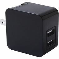 iwerkz 3.4 Amp Dual-Port USB Wall Charger (Black)