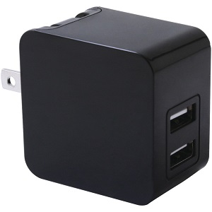 iwerkz 3.4 Amp Dual-Port USB Wall Charger (Black) - Click to enlarge