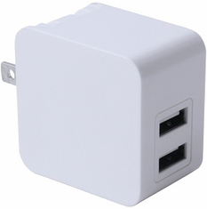 iwerkz 3.4 Amp Dual-Port USB Wall Charger (White)