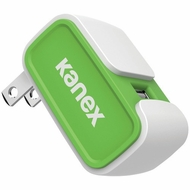 KANEX 2.4-Amp V2 USB Wall Charger (Green)