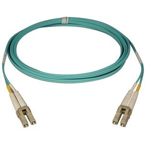 LC-LC 50/125 10-Gig Duplex Aqua Multi-Mode PVC Fiber Patch Cable