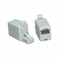 Male/Female RJ45 Crossover Adapter