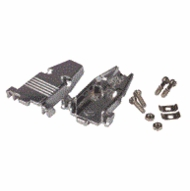 Metal Hood for DB15 / HD26 pin connectors with short screws.