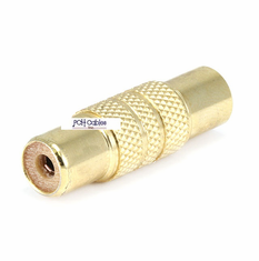 Metal RCA Jack to RCA Jack Adaptor - Gold Plated