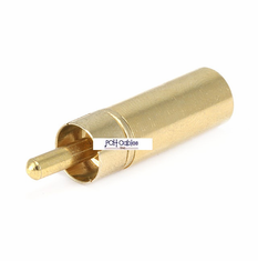 Metal RCA Plug to 3.5mm Stereo Jack Adaptor - Gold Plated