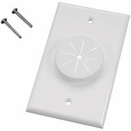 MIDLITE 1GWH-GR1 Single Gang Wireport� with Grommet (White)