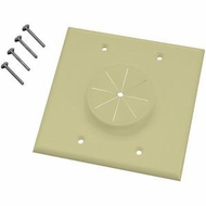 MIDLITE 2GIV-GR2 Double Gang Wireport� with Grommet (Ivory)