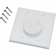 MIDLITE 2GWH-GR2 Double Gang Wireport� with Grommet (White)