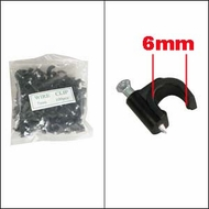 Nail-in Ethernet / RG59 Clip Black 100pk (6mm)