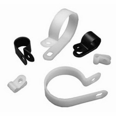 100//Pack R-Type Cable Clip Wire Clamp for Audio//Video or Electrical Cables