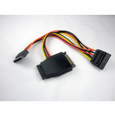 OK Gear 8 Inch 15 Pin SATA II Y Power Adapter Cable