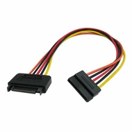 """OKGEAR 12"""" SATA 15 Pin power extension cable"""