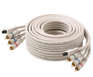 Python™ Component Video Cables with Toslink Digital Optical Cable
