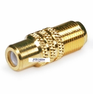 RCA Female to F Female Adapter - Gold Plated
