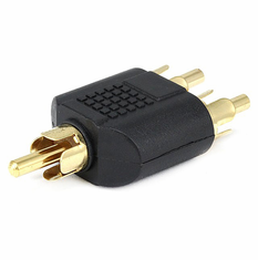 RCA Plug to 2 RCA Plug Splitter Adaptor - Gold Plated