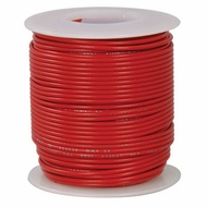 Red 100 Foot 24 AWG stranded hook-up wire