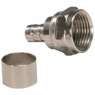 RG59 F-Type Crimp-On Connector - 5 Pack