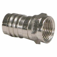 RG59 F-Type Crimp-On Connector w/Attached Crimp Ring - 5 Pack