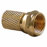 RG59 F-Type Twist-On Connector, Gold Plated - 5 Pack