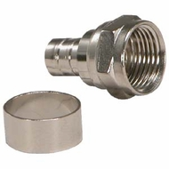 RG6 F-Type Crimp-On Connector - 5 Pack