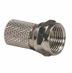 RG6 F-Type Twist-On Connector - 5 Pack