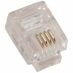 RJ11 6P4C ( 6 Position, 4 Conductor ) Plug for Stranded Round Wire - 10 Pack
