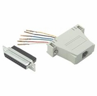 RJ11 / RJ12 (6 Conductor) - DB25 Female Modular Adapter