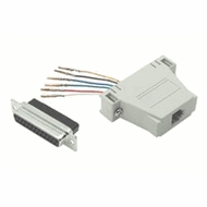 RJ11 / RJ12 (6 Conductor) - DB25 Male Modular Adapter