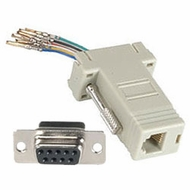 RJ11 / RJ12 (6 Conductor) - DB9 Female Modular Adapter