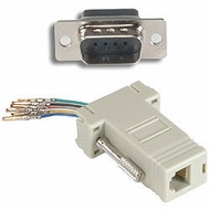 RJ11 / RJ12 (6 Conductor) - DB9 Male Modular Adapter