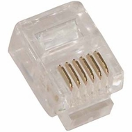 RJ11, RJ12, RJ22 Telephone Modular Plugs (Cable Ends)
