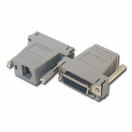 RJ45 (8 Conductor) - DB15 Female Modular Adapter