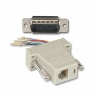 RJ45 (8 Conductor) - DB15 Male Modular Adapter