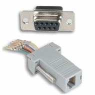RJ45 (8 Conductor) - DB9 Female Modular Adapter