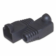 RJ45 Black Strain Relief Network Cable Boots - Bag of 10 Pieces