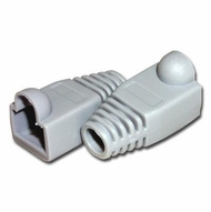 RJ45 Gray Strain Relief Network Cable Boots - Bag of 10 Pieces