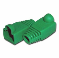 RJ45 Green Strain Relief Network Cable Boots - Bag of 10 Pieces