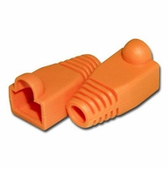 RJ45 Orange Strain Relief Network Cable Boots - Bag of 10 Pieces