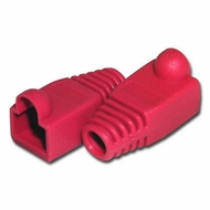 RJ45 Red Strain Relief Network Cable Boots - Bag of 10 Pieces
