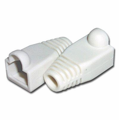 RJ45 White Strain Relief Network Cable Boots - Bag of 10 Pieces