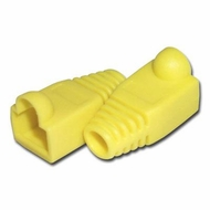 RJ45 Yellow Strain Relief Network Cable Boots - Bag of 10 Pieces