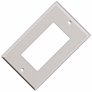 Single Gang Decora Wall Plate Blank, White